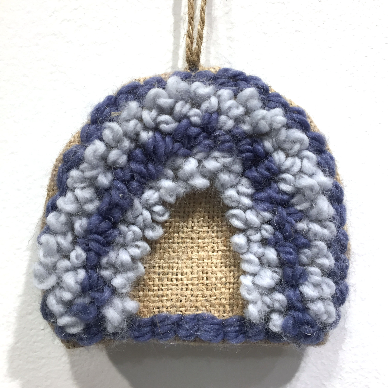Wandhanger regenboog blauw grijs
