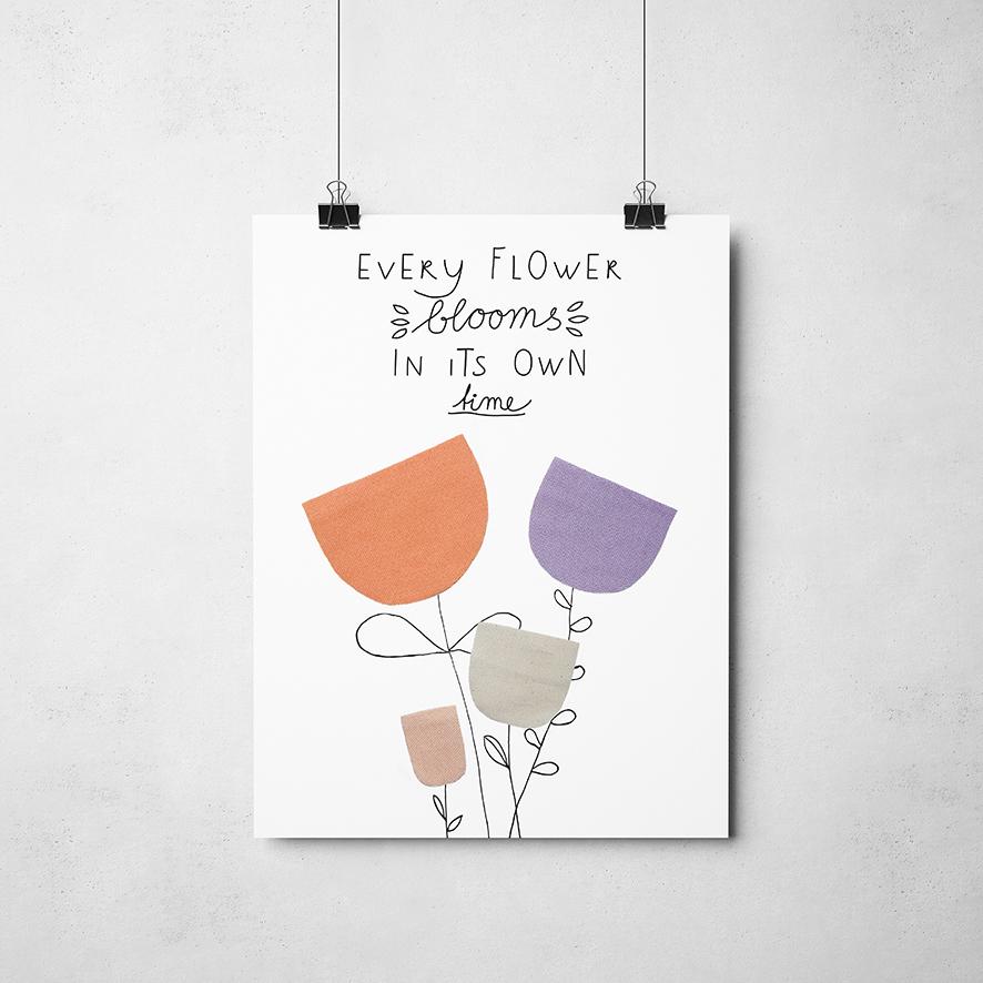 Poster bloem